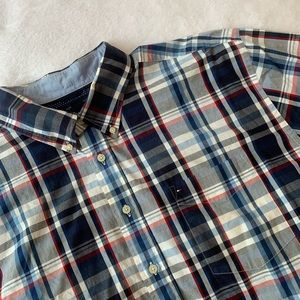 Tommy Hilfiger Button Down Plaid Shirt Size XXL